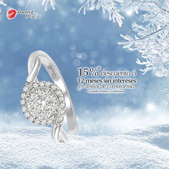 Anillo de Oro Blanco 14kt SKU: WG1430418A, Piedras Laterales: 0.30 pts, Precio: $17,550.29 pesos M.N -15% = $14,917.74 *Consulte términos y condiciones.