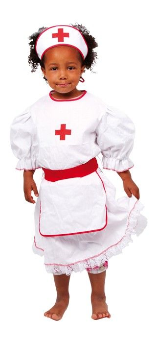Krankenschwester Kostüm Für Kinder von 4 bis 6 Jahren, waschbar.