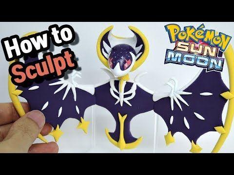 Pokemon Clay Art Lunala Psychic Ghost Legendary Pokemon Youtube Pokemon Birthday Doll Diy Crafts Clay Art