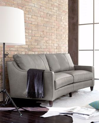 """""""Fern"""" Leather Sofa at Horchow."""