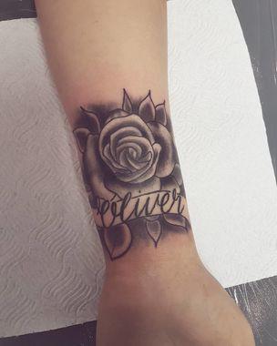 P Rose Baby Name Tattoo P Baby Name Tattoos Baby Feet Tattoos Name Tattoos For Moms