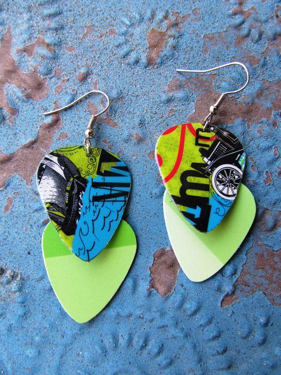 Trader Joe's Gift Card Edgy Earrings 2 by SissyandSassyStudios on Etsy