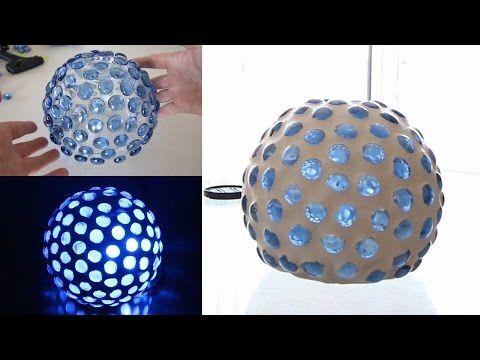 lampadario con bicchieri di plastica - fai da te - youtube | hobby ... - Paralume Con Bicchieri Di Carta
