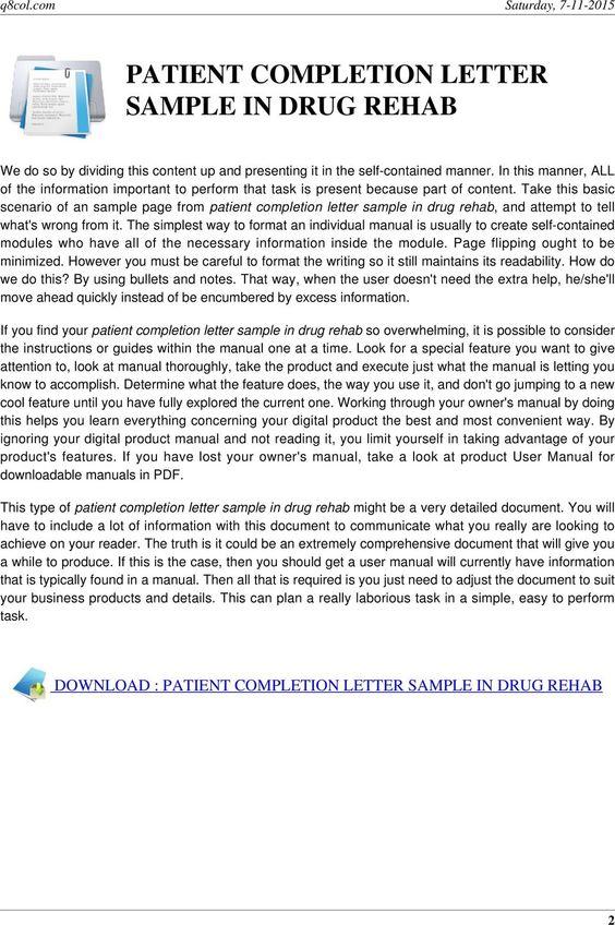 patient completion letter sample drug rehab pdf take this basic - completion certificate format
