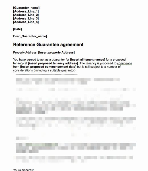 Letters Of Guarantee Templates Fresh Proposed Guarantor Covering Letter For Signing Guarantee Agreement Letter Application Cover Letter Templates