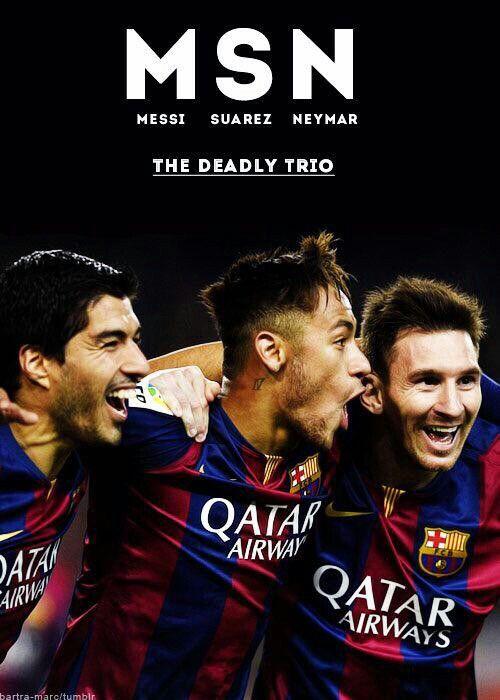 Hoy 6 de Diciembre JC gano un partidazo en el AsturianoSuarez, Neymar and Messi
