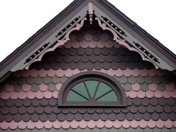 on victorian and queen anne buildings fish scale shingles