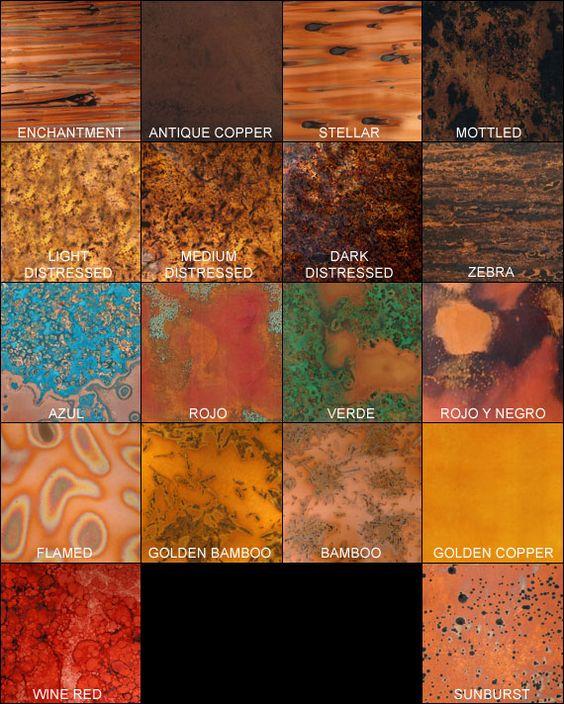 copper sheets - beautiful designs!!