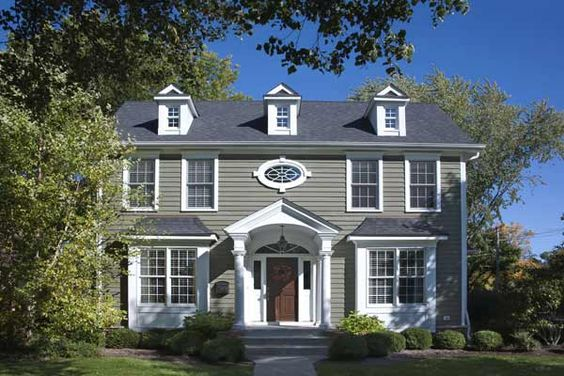 Paint Color Ideas For Colonial Revival Houses Stains Paint Colors And Exterior Colors