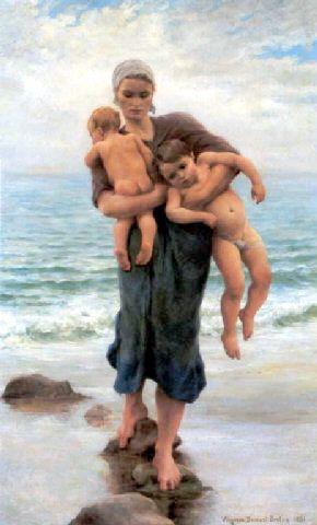 Regreso del baño de mar, por Virginie Demont.Breton