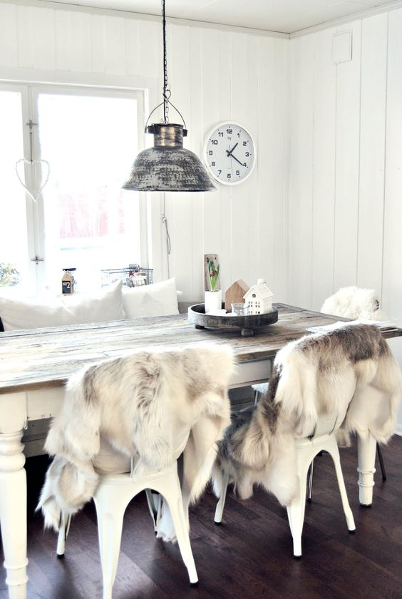 Cozy In White Homes Pinterest Reindeer Kitchen Tables And Fur