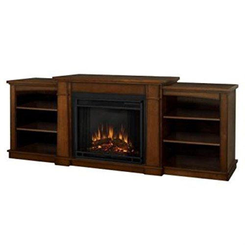 Oak entertainment electric fireplace universal lighting and decor
