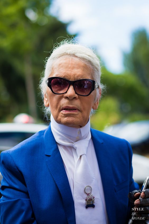 Karl Lagerfeld at Dior Homme