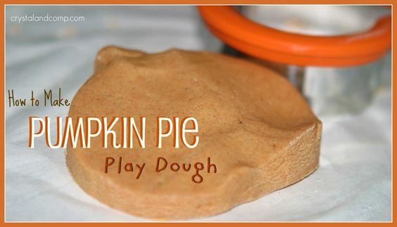 pumpkin pie play dough.