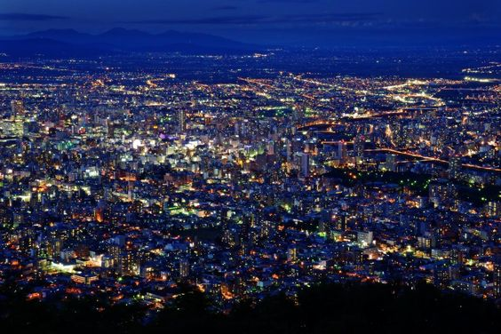 札幌  藻岩山からの眺め