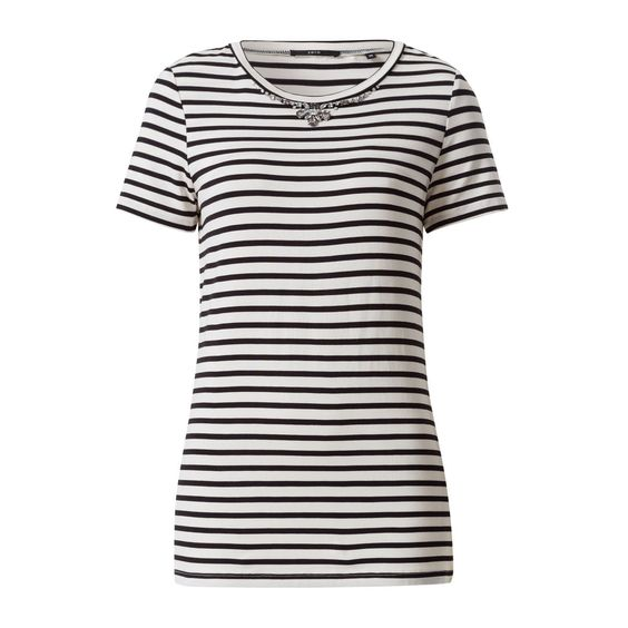 T-Shirt mit Schmucksteinen in black