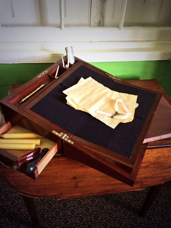 This was Alexander Hamilton's travel writing kit. He took it everywhere and wrote everywhere.
