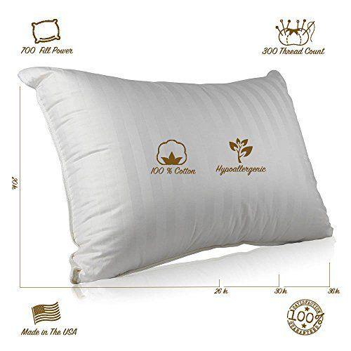 Continental Bedding Sp100 Q Superior 100 Down Pillows 700 Fill Power 25oz Hungarian Goose Down Sleeper 1 Best Down Pillows Goose Down Pillows Down Pillows