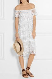 Angelica off-the-shoulder crocheted lace dress