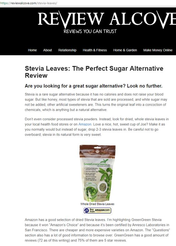Stevia Leaves: The Perfect Sugar Alternative Review