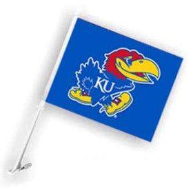 Kansas Jayhawks Car Flag