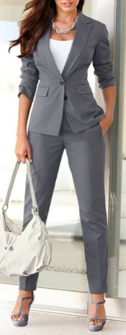 Cool All Grey Men Style Fashion Roll Up Pants Jacket