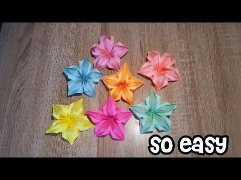 How to Fold : Origami Flower | Do It Yourself - YouTube | 360x480