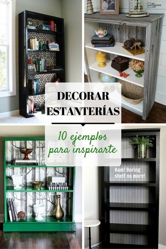 Decorar estanterías - Pinterest