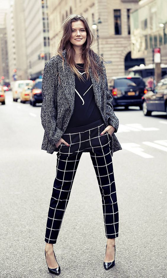 Ankle pants, Cas and Plaid on Pinterest