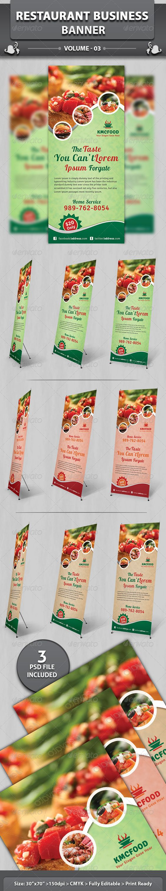 Restaurant Business Banner | Volume 3