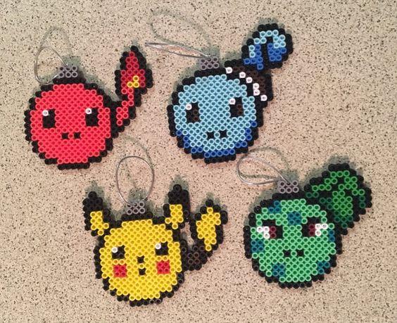 Pokemon Ornament Set by KatSprites on Etsy