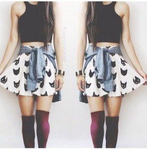 socks skirt