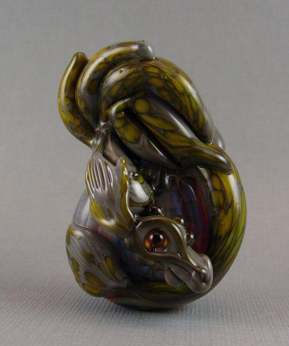 Handgefertigte Drache Perlen Murano Glas  von marylockwood auf Etsy