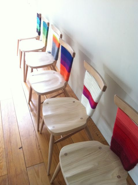 Leaves and Twigs: Finished wrapped Ercol chairs- Sheltering from the Rain show.: