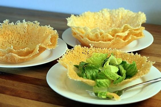 Microwave Parmesan or Romano Cheese Bowls