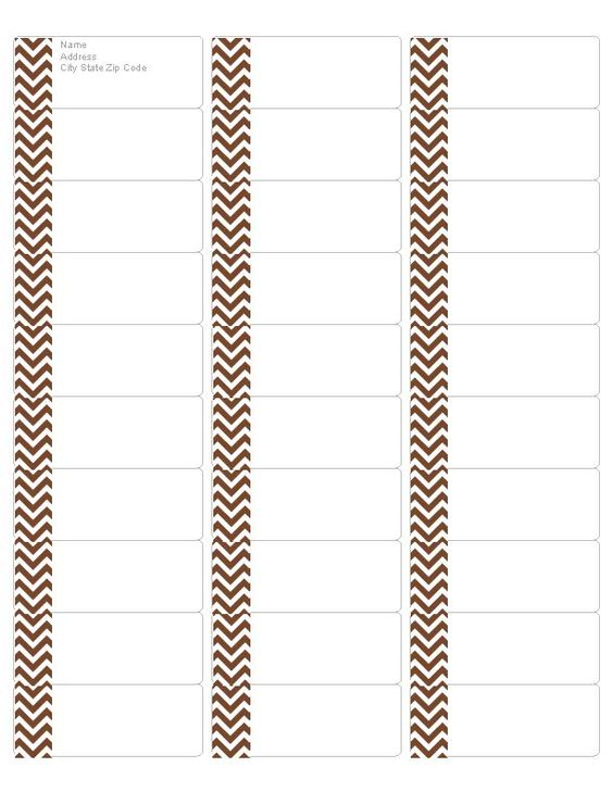 Free chocolate chevron address labels compatible with avery return address label 5162 for Avery labels 5162 templates