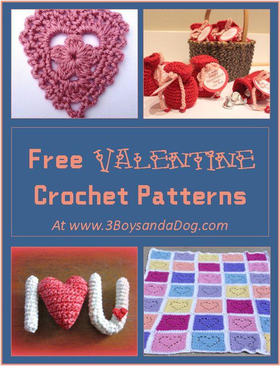 Free Crochet Patterns Valentines Day : 7 Free Valentine Crochet Patterns 3 boys, Boys and Crochet