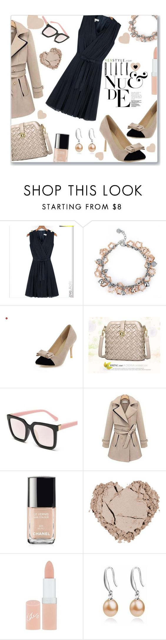 """""""Valentines Day Nude"""" by jckallan ❤ liked on Polyvore featuring MBLife.com, Nouvelle Footwear, Furifs, Chanel, Rimmel, ViVi Pearl, women's clothing, women, female and woman"""