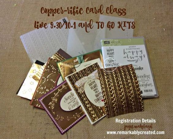 COPPER-rific – Gold Foil Greeting Cards Class Kit #greetingcard #handmade…