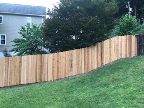 Beautiful Red Cedar Wood Privacy Fence Installed By Skip His