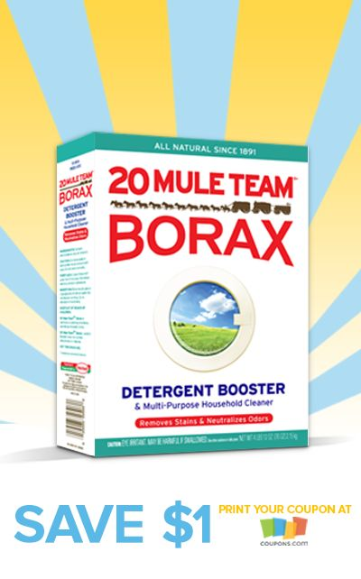 #COUPON: Get $1.00 off one box of 20 Mule Team Borax!