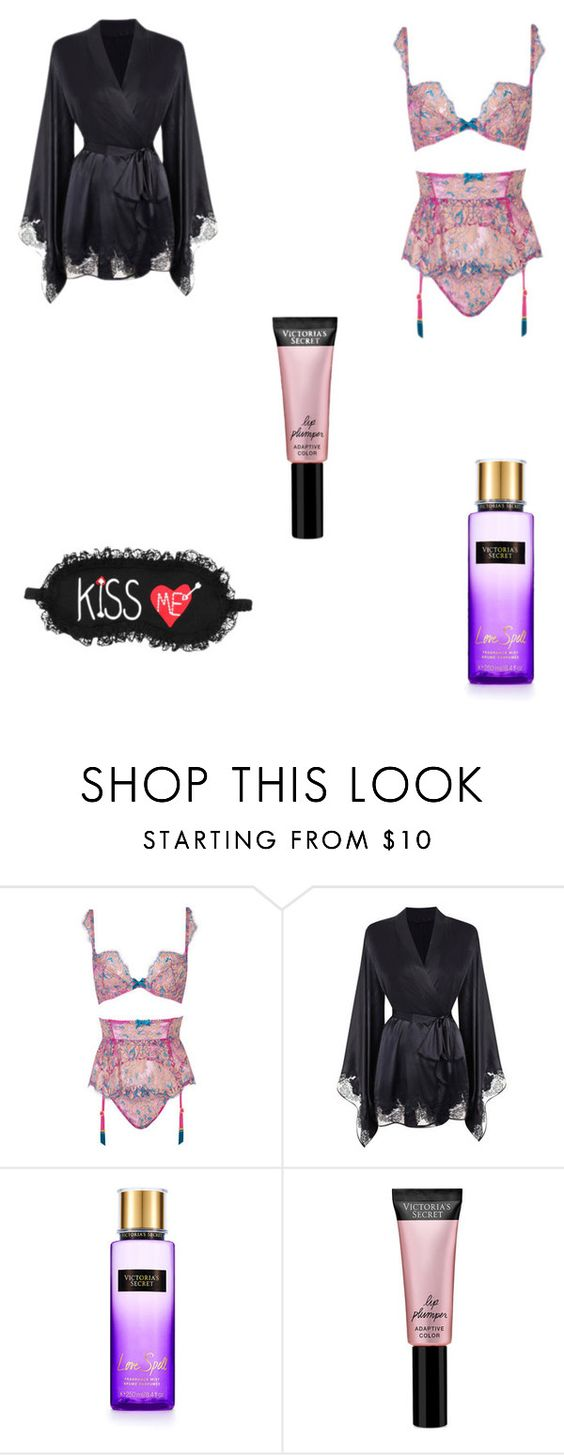 """""""Set"""" by michaelamc ❤ liked on Polyvore featuring Agent Provocateur, Beauty Rush and P.J. Salvage"""