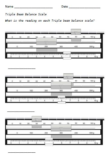 Printables Triple Beam Balance Worksheet triple beam balance worksheet template worksheet