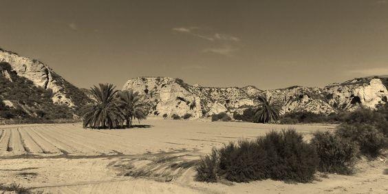 Cuevas del Almanzora in Andalusien. Uralte Kulturlandschaft, wo die ersten Siedlungen am Mittelmeer entstanden. Argar-Kultur.