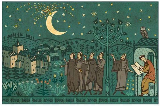 La Nuit de la Lune a explosé et d'autres contes lunaires du Moyen Age