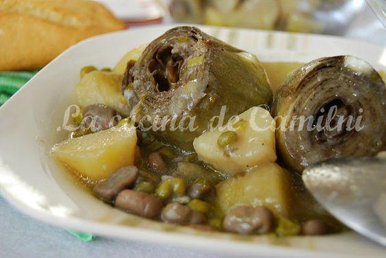 Alcachofas guisadas con patatas