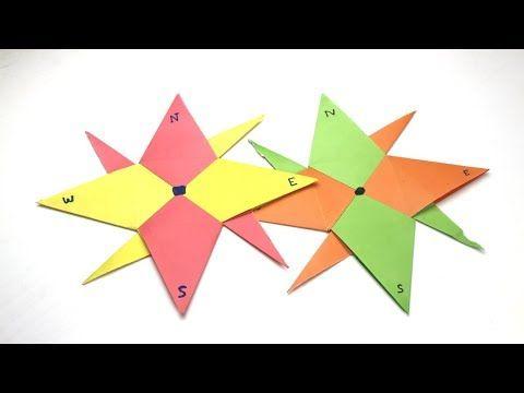 Modular Origami 8-pointed Ninja Star Folding Instructions | 360x480