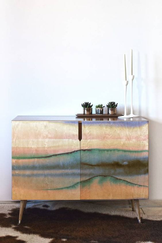 DENY Designs Amy Sia Mystic Dream Pastel Credenza | Domino
