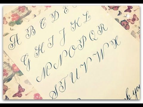 How To Write Calligraphy Copperplate Calligraphy And