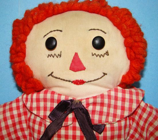 C1950-60 Hand Made Raggedy Andy Doll Brown by AmericanBeautyDolls